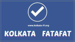 Kolkata FF Fatafat Result